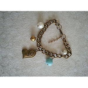 Knickknack Antique dull gold charmed bracelet