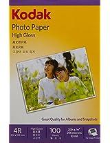 KODAK 200GSM 4X6 INKJET PAPER 100 SHEETS