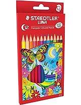 Staedtler Luna School Triangular colour pencils set of 12 colours
