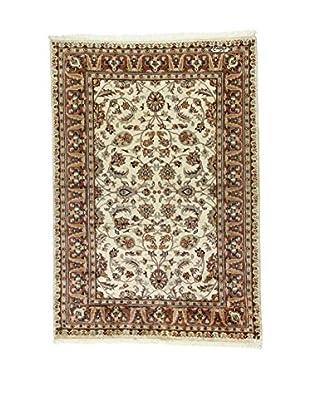 L'Eden del Tappeto Teppich Kashmirian F/Seta ecru/braun 181t x t126 cm