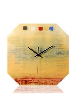 HangTime Designs Textile Octa Wall Clock, Yellow