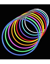 50 Glow Necklaces For Halloween, Parties, Bath Tub Fun, Weddings, Bars