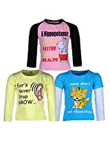 Goodway Pack of 3 Girls Full Sleeve Colour T-Shirts Did You Know Theme-4-2-3Years