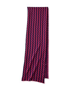 Aviva Stanoff Women's Zigzag Cashmere Blend Scarf, Pink/Navy