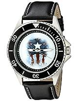 Marvel Avengers: Age of Ultron Men's W002254 Captain America Analog Quartz Black Watch