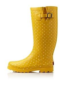 Chooka Women's Posh Dots Rain Boot (Yellow)