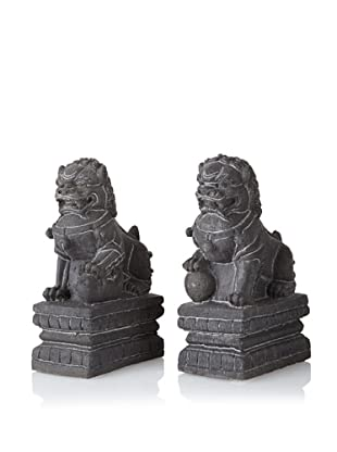 The HomePort Collection Set of 2 Volcanic Foo Dogs