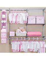 Delta 48 Piece Nursery Storage Set, Pink