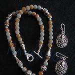 Ganesha pendant with matching earring