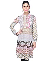 Stop! Women's Kurta (9351258_Red_Large)
