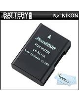 Replacement EN-EL14a EN-EL14 Ultra High Capacity Li-ion Battery For Nikon D5300 D3300 D5100 D5200 D3100 Nikon Df and D3200 P7100 P7700 Digital Camera - Fully Decoded! (Nikon EN-EL14a Replacement) + ButterflyPhoto MicroFiber Cleaning Cloth