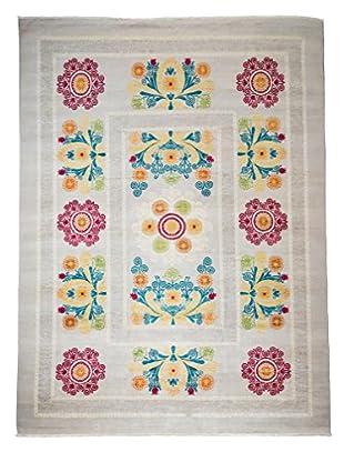 Darya Rugs Suzani Oriental Rug, Grey, 9' 1