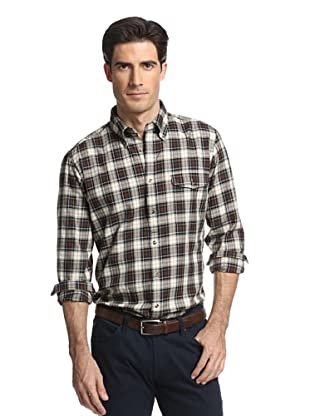 GANT Men's Yale Bennington Twill Plaid Shirt (Teak Brown)