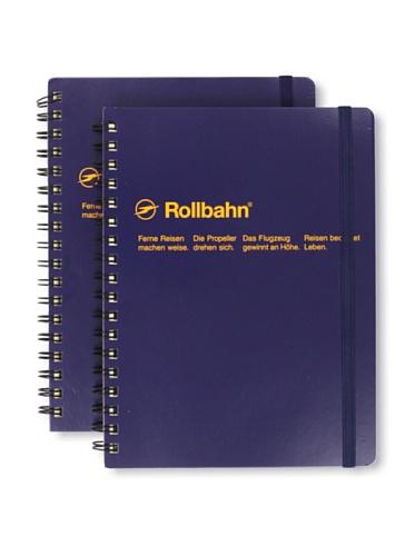 Sweet Bella Set of 2 Rollbahn Spiral Notebooks (Dark Blue)