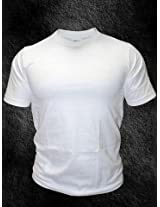 TSX Plain white Round Neck T shirt
