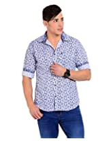Sting White Solid Slim Fit Half Sleeve Cotton Casual Shirt -SG0009B238HXS