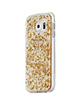 Case-Mate Karat Clear Bumper for Samsung Galaxy S6 - Retail Packaging - Gold