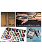 Solid Master Scissors For Cloth Leather Threads Plastic Sheets Lamination Sheets Heavy Duty Tailoring Home Office Shops Top Model Trusted From 10 Years Full Size 12 Inch Tclindia (Master Kenchi Petal 12 Inchi)