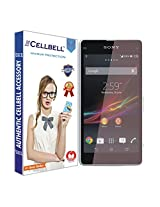 Cellbell Premium Tempered Glass Screen Protector for Sony Xperia Z1(2.5D Curved Edges)(Clear)(Comes with Warranty)Complimentary Prep cloth