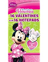 Paper Magic Minnie Mouse Valentine Exchange Cards with Bonus Notepad (16 Count)