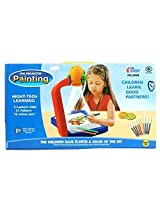 AND Retails Children Kids Projector Painting Drawing Activity Kit Toy Set - Projector + 3 Slides with 21 Patterns + 12 Color Pens + Painting Art Paper Book