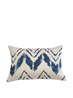 Filling Spaces Hand-Printed Ikat Stroke Pillow, Indigo