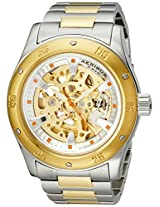 Akribos XXIV Men's AK477TTG Premier Skeleton Automatic Gold Two-Tone Stainless Steel Bracelet Watch