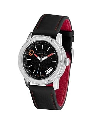 ARMAND BASI A1002G02 - Reloj de Caballero movimiento de cuarzo con correa de piel Negra