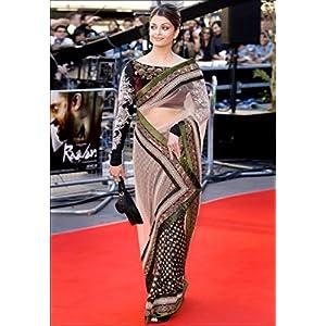 Aishwarya Rai Designer Net & Viscose Bollywood Style Saree - 1328