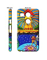 TGK Abstract Art Live Mushroom Drawing Back Cover Case for LG Google Nexus 5X - Multicolor