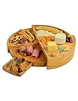 Picnic at Ascot Vienna Transforming Bamboo Cheese Board Set