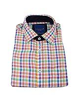 Linen Club Formal Shirt Checks