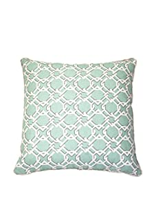 """Lacefield Designs Keenland Geometric 20"""" x 20"""" Pillow, Turquoise"""