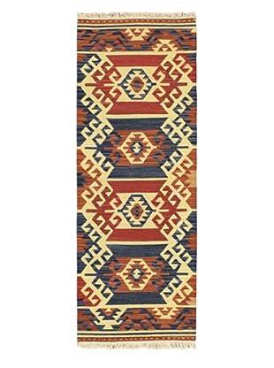 Hand Woven Anatolian Wool Kilim, Cream, 2' 5