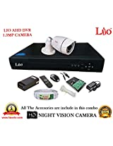 AHD LIO 4CH DVR + AHD 1.3 Megapixel High Resolution LIO 36IR BULLET CAMERA 1pcs + 1 TB WD HDD + CABLE 3+1 COPPER + POWER SUPPLY (FULL COMBO)