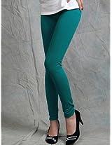 Polyster Turquoise Warm & Flocking Leggings