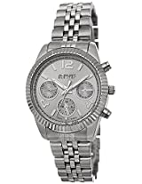 August Steiner Women's AS8103SS Swiss Quartz Multifunction Silver-tone Stainless Steel Bracelet Watch