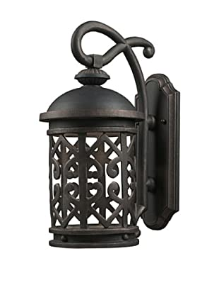 Elk Lighting 42362/1 Tuscany Coast One Light Outdoor Sconce, Weathered Charcoal