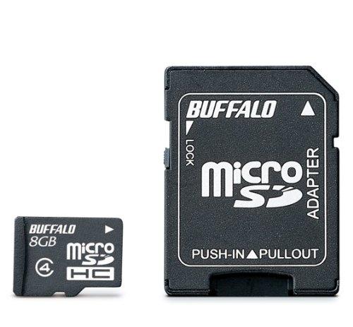 BUFFALO Class4 microSDカード 8GB RMSD-8GC4SA/E [フラストレーションフリーパッケージ (FFP)]