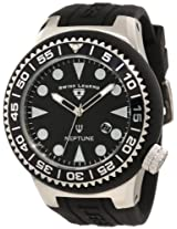 Swiss Legend Men's 21818D-01-NB Neptune Black Dial Black Silicone Watch