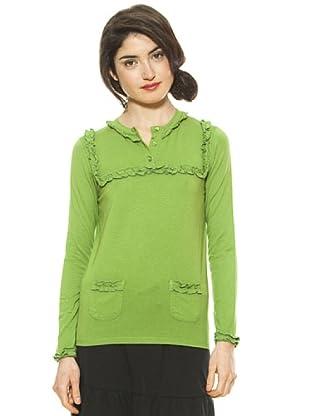La Casita de Wendy Camiseta Volantitos (Verde)