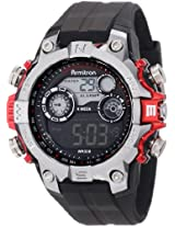 Armitron Sport Men's 40/8251RED Red Accented Digital Chronograph Black Resin Strap Watch