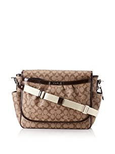 Coach Coated Canvas Messenger Baby Bag, Brown