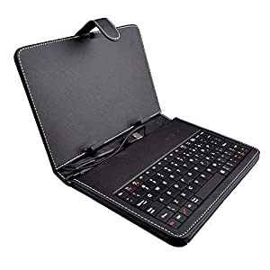 Universal Faux Leather Case Cover with USB Keyboard