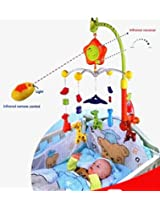 Infrared Remote Control Rotating Baby Crib Pram Hanging Music Bed Bells for Babies & Infants