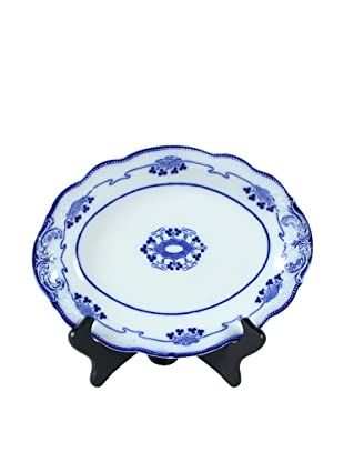 Flow Blue Lorne Oval Serving Plate, Blue/White