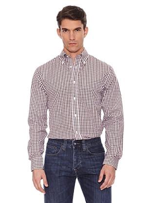 Hackett Camisa Cuadros (Blanco / Marrón)