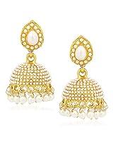 Jhumka Earrings For Women Girls in traditional Ethnic Pearl Earings By Meenaz J132