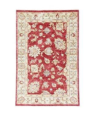 L'Eden del Tappeto Teppich Zigler rot/ecru 148t x t98 cm