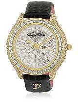 H Ph13577Jsg/04 Black/Golden Analog Watch Paris Hilton